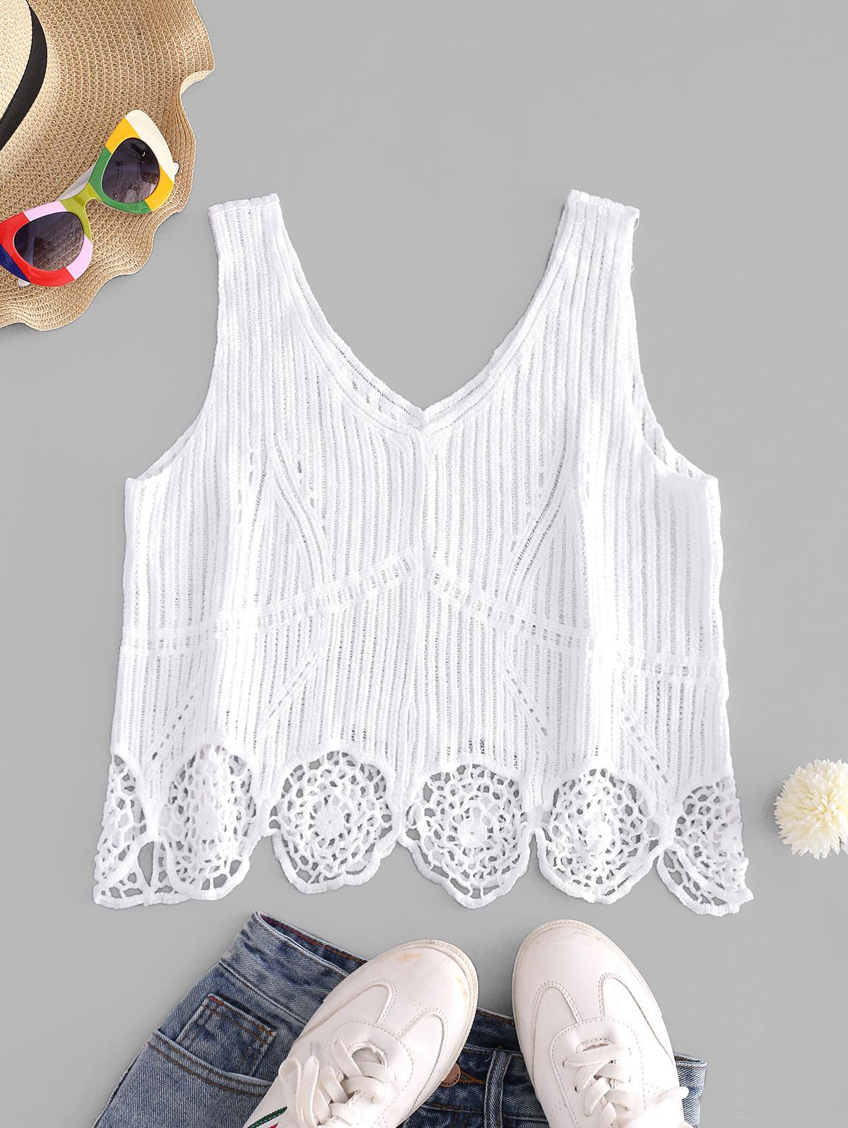 Crochet Knitted Slim Tank Top