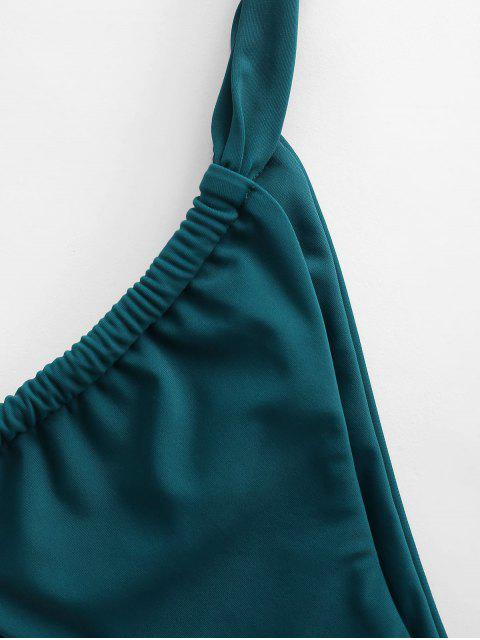 ZAFUL Bikini Unterteile mit Niedriger Taille - Pfauenblau S Mobile