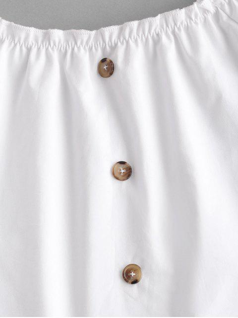 ZAFUL Conjunto de Dos Piezas con Rayas de Lazo de Cintura con Botones - Castaño Rojo S Mobile