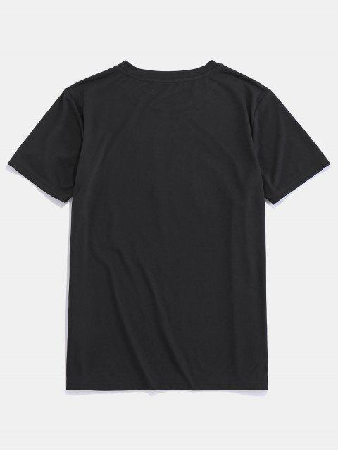 shops ZAFUL American Flag Graphic Basic T Shirt - BLACK M Mobile