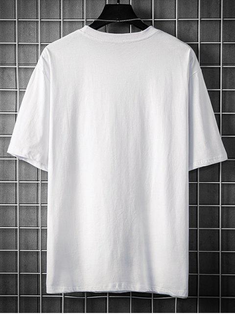 T-Shirt Grafica con Maniche Corte - Bianca 3XL Mobile