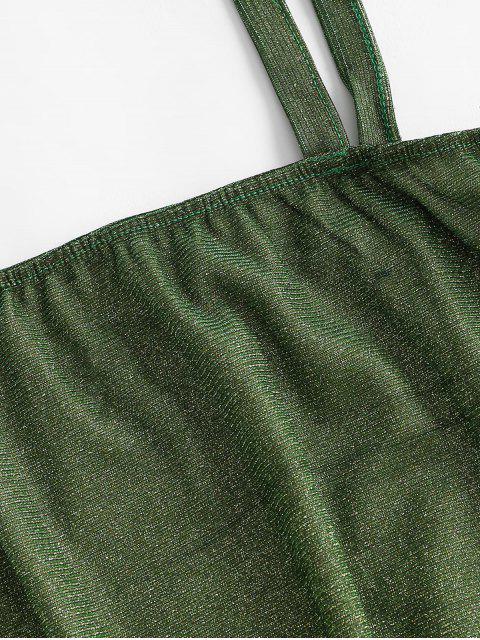 Canotta Corta con Collo Quadrato - Verde Pistacchio S Mobile