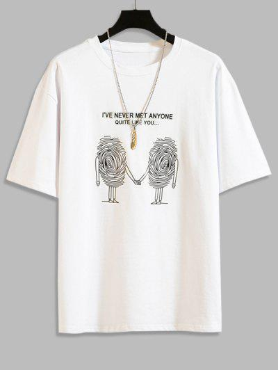 Sketch Graphic Print Short Sleeve T-shirt - White 2xl