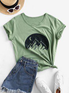 T-shirtGraphiqueavec ReversenCoton - Vert Fougère Xl