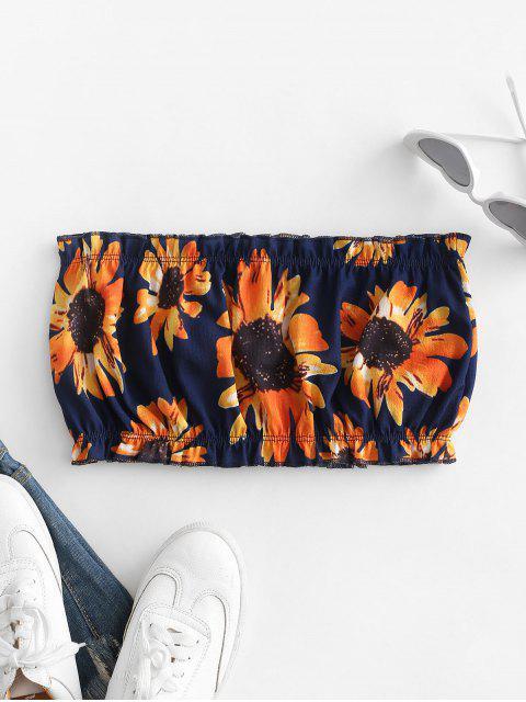 ZAFUL Sonnenblume Bandeau Top - Mitternacht Blau S Mobile