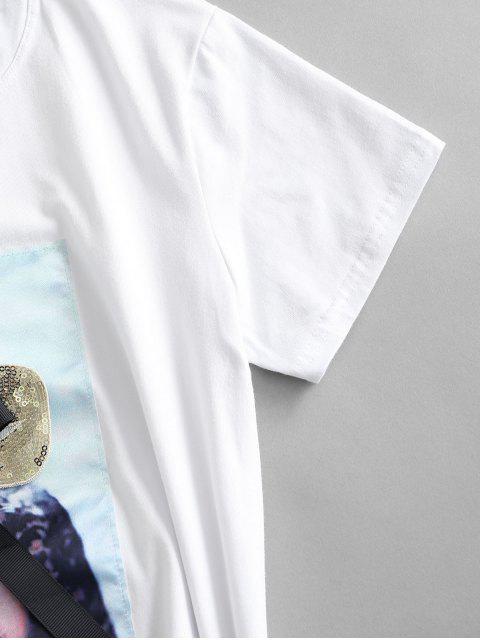 Camiseta com Figura para recortar Laço - Branco L Mobile