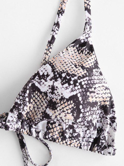 shops ZAFUL Animal Print Tie String Bikini Set - ORANGE GOLD L Mobile