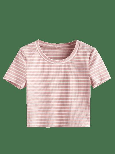ZAFUL Striped Print Crop T Shirt