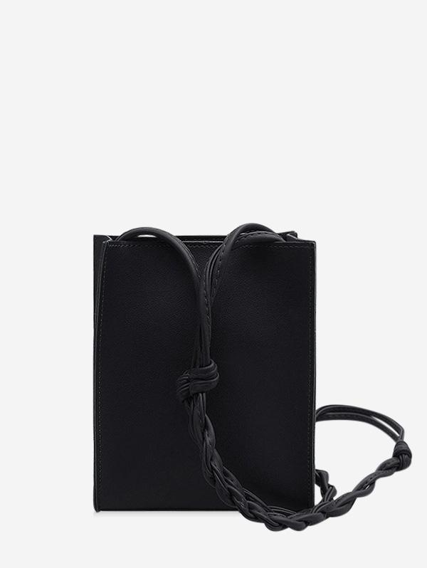 Solid Rectangle Braid Crossbody Bag thumbnail