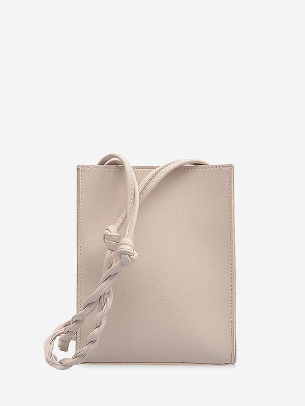 Solid Rectangle Braid Crossbody Bag thumbnail