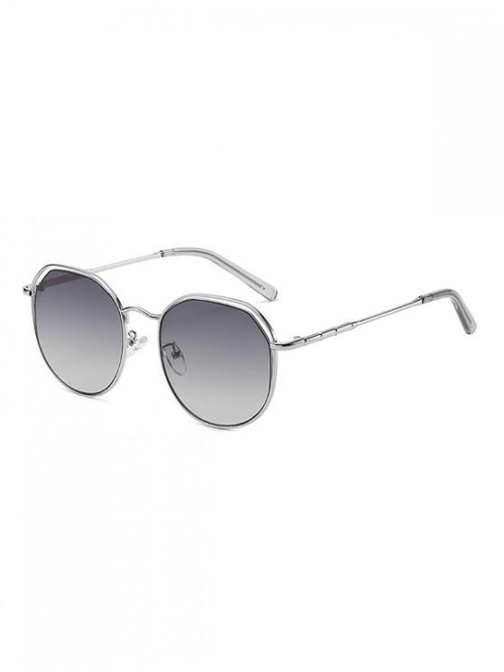 Metal Geometric Hollow Sunglasses - اللون الرمادي