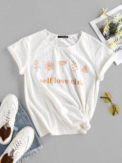 ZAFUL Self Love Club Graphic Tee - White S