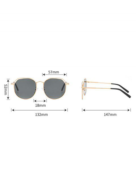 outfits Metal Geometric Hollow Sunglasses - GUNMETAL  Mobile