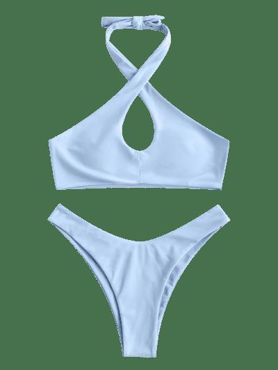 ZAFUL Halter Keyhole High Leg Bikini Swimwear