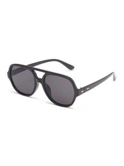 Oversized Retro Unisex Bar Sunglasses - Black