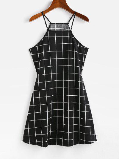 Mini Vestido En A Cuadrícula ZAFUL - Negro S