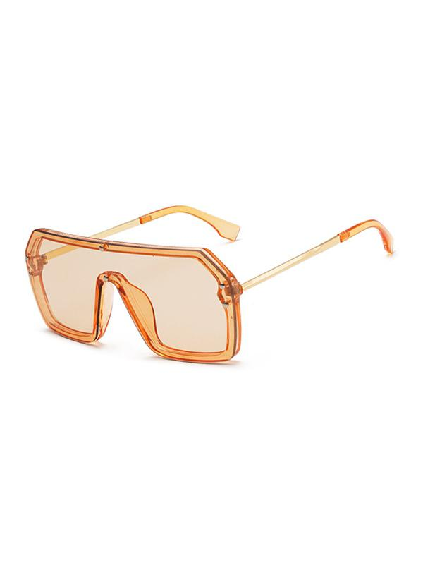 One-piece Rivet Oversized Sunglasses