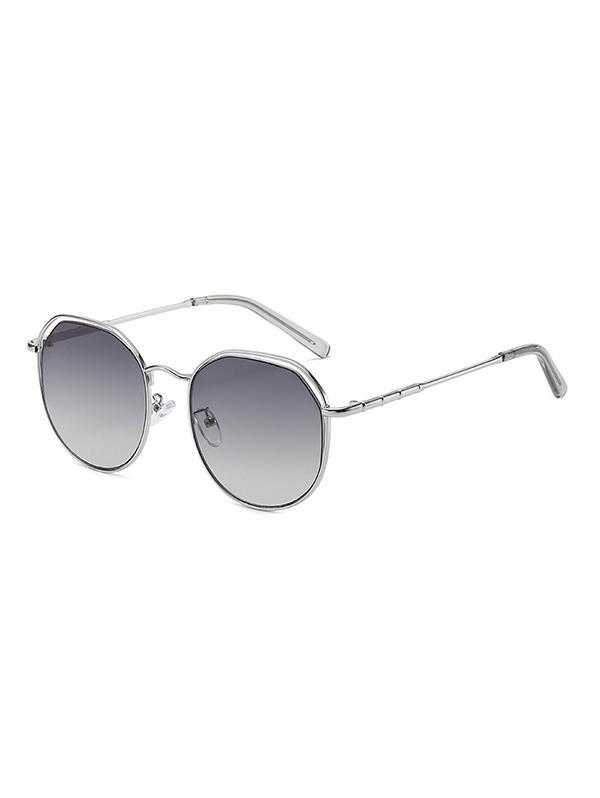 Metal Geometric Hollow Sunglasses