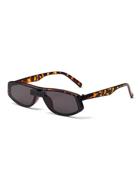 shops Letters One-piece Outdoor Sunglasses - LEOPARD
