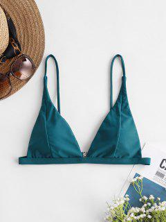 ZAFUL Basic Plunge Bikini Top - Peacock Blue S