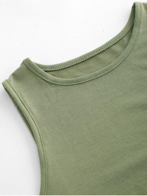Camiseta Regata Barriga de Fora com Recorte - Verde profundo XL Mobile
