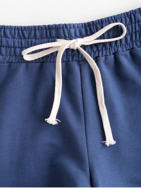 fashion Lounge Drawstring Dolphin Sweat Shorts - SILK BLUE 2XL Mobile