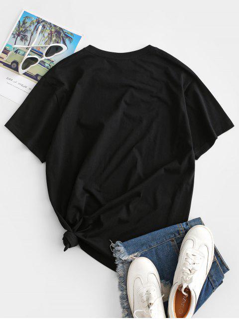 Dieses Kleid mit Kurzen Ärmeln und Einen Quadratischen Ausschnitt - Schwarz S Mobile