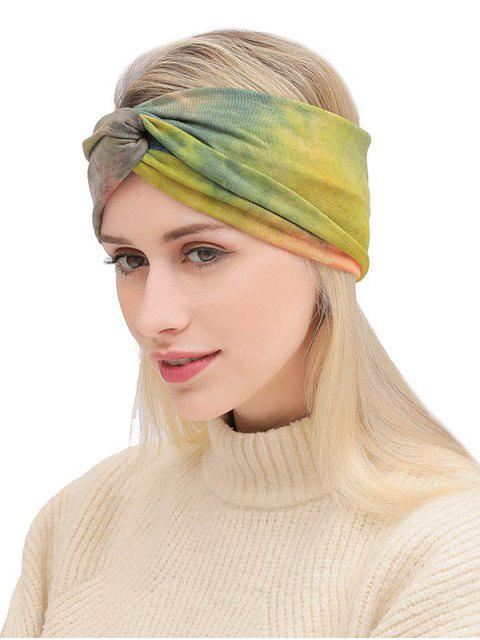 shop Bohemian Elastic Tie Dye Fitness Headband - MULTI-A  Mobile