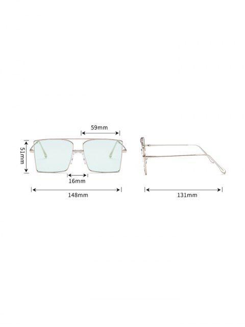 Gafas de Sol Cuadradas Barra Metálica Tamaño Extra Grande - Verde Oscuro  Mobile