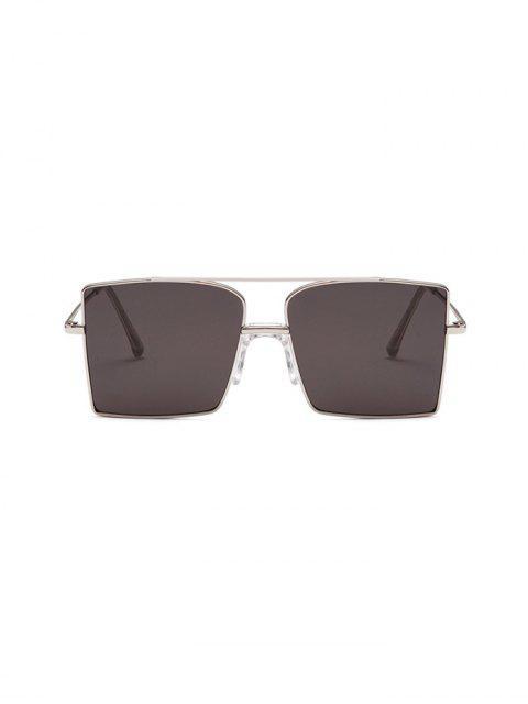 Gafas de Sol Cuadradas Barra Metálica Tamaño Extra Grande - Negro  Mobile