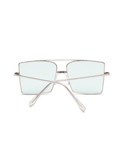 Gafas de Sol Cuadradas Barra Metálica Tamaño Extra Grande - Azul Océano   Mobile