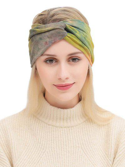 Bohemian Elastic Tie Dye Fitness Headband - Multi-a