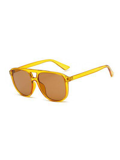 Driving Square Bar Sunglasses - Yellow