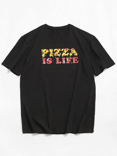 ZAFUL Lässiges T-Shirt Mit Grafikdruck Und Rundhalsausschnitt - Schwarz 2xl