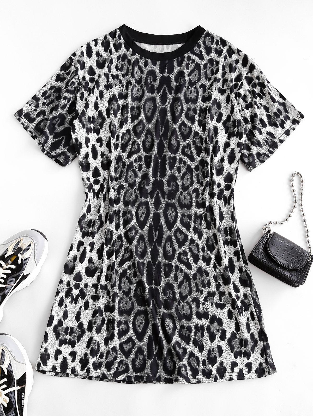 Leopard Print Long T-shirt