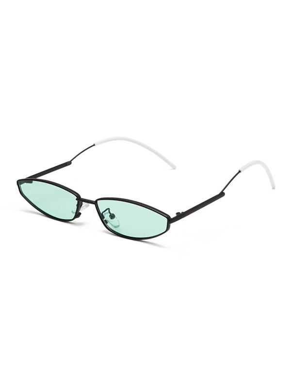Retro Narrow Metal Sunglasses