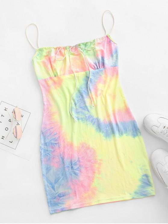 online Tie Dye Bodycon Dress - MULTI-B M