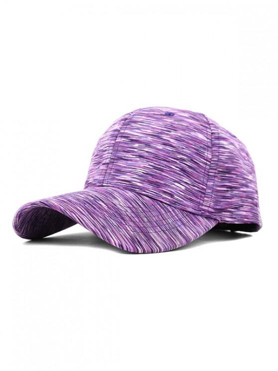 affordable Space Dye Casual Baseball Cap - LIGHT PURPLE