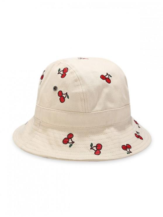 Broderie Cherry Bucket Hat - Bej