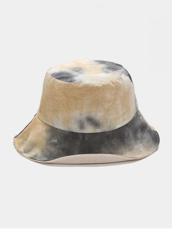 chic Reversible Tie-dye Bucket Hat - KHAKI