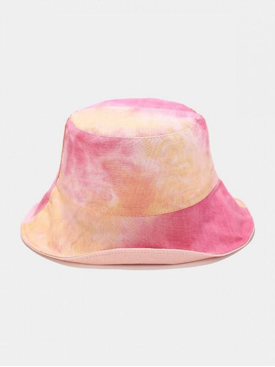 Reversible Tie-dye Bucket Hat - وردة حمراء