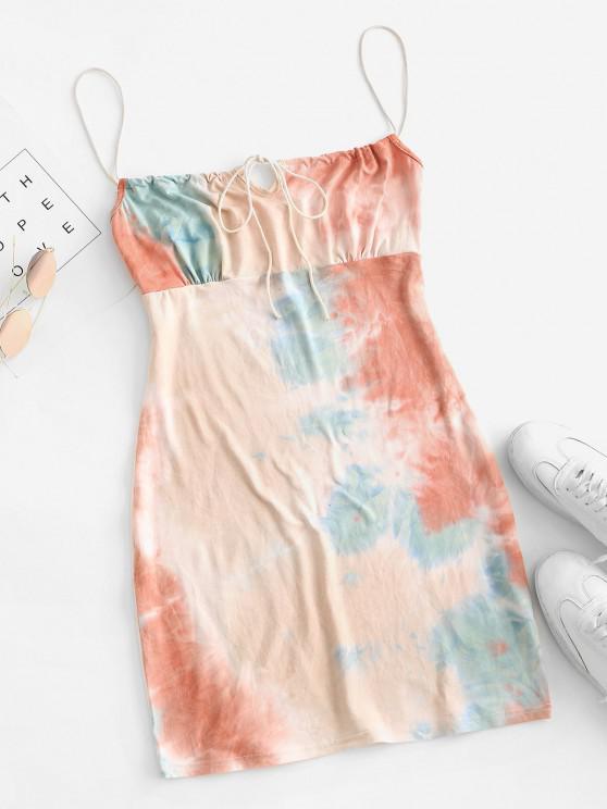 women Tie Dye Bodycon Dress - MULTI-A S