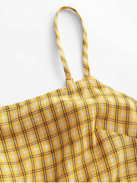 Mono Corto Cami a Cuadros Superpuestos - Amarilla de Abeja  M Mobile