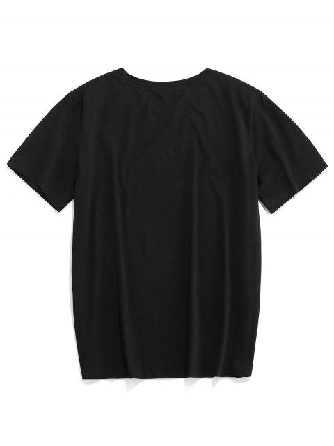 T-Shirt Basic di ZAFUL - Nero 2XL Mobile