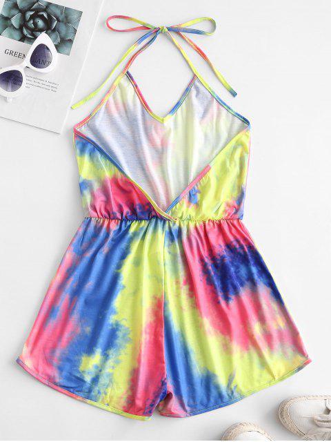Mono Femenino de Tie Dye con Cintura Elástica - Multicolor-B L Mobile
