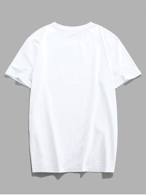 T-Shirt con Grafica di ZAFUL - Bianca 2XL Mobile