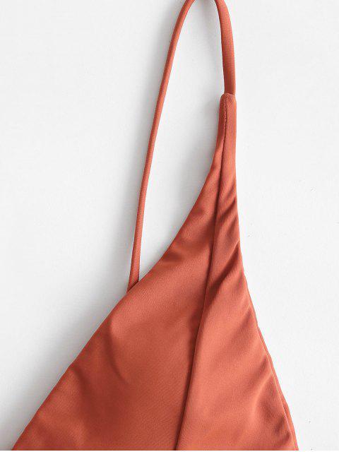 ZAFUL Haut de Bikini de Base Plongeant - Chocolat L Mobile