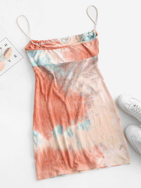 women's Tie Dye Bodycon Dress - MULTI-A M Mobile