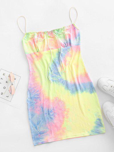 Tie Dye Bodycon Dress - Multi-b S