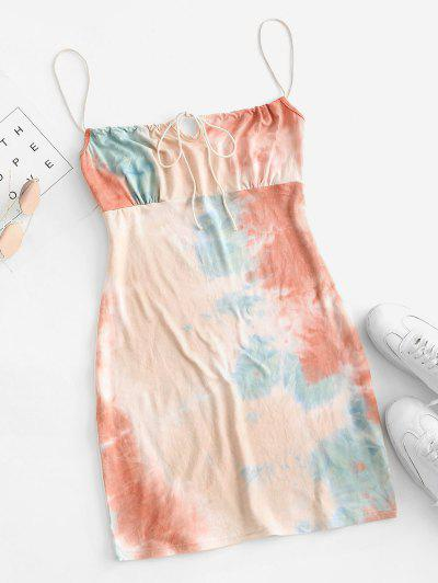 Tie Dye Bodycon Dress - Multi-a S